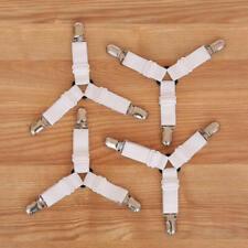 4X Bed Sheet Holder Strap Clip Mattress Blankets Elastic Gripper Garter Bedding