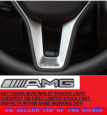 AMG Steering Wheel Sticker Badge Logo Emblem Mercedes Benz Alloy Smart Class New