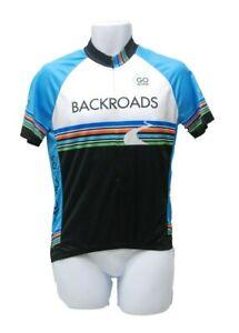 Louis Garneau Men's Cycling Jersey 1/2 Zip Backroads Go Active, Blue / Black, S
