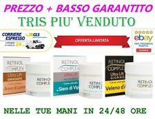 RETINOL COMPLEX 3 CREME ANTIRUGHE CREMA BAVA LUMACA VELENO D'APE SIERO DI VIPERA