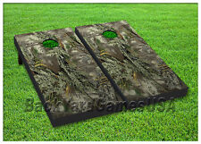 VINYL WRAPS Cornhole Boards DECALS Forest Camo Wood Bag Toss Game Stickers 128