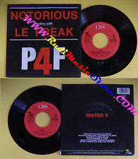 LP 45 7''P4F Notorious medley with le freak Mister x 1987 CECCHETTO no cd mc dvd