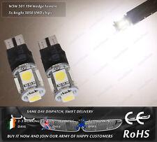 LED SMD T10 501 W5W Wedge Warm White 3500k Strobe Flashing Sidelights Bulbs 12V