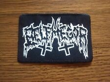BELPHEGOR,SEW ON WHITE EMBROIDERED PATCH