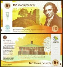 England / Lewes -  1st. series £10 Banknote - very different Yellow design, UNC