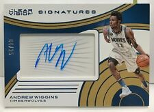 Andrew Wiggins 2015-16 Panini Clear Vision Signatures GOLD Autograph Auto #'d/25