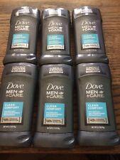 Dove Men + Care Antiperspirant Deodorant Stick Clean Comfort 48h 2.70 oz 6pack
