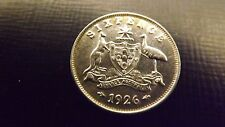 SIXPENCE 1926 UNC HARDER DATE