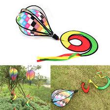 Check Stripe Windsack Heißluftballon Wind Spinner Garten Hof Outdoor-Dekor XW