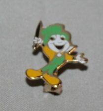 Nice Rare Vintage Disney Jiminy Cricket Hinged Pin Back 3/4""