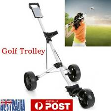 Black Golf Trolley Cart Buggy Bag 3-Wheel Swivel Anti-shock w/Brake Foldable