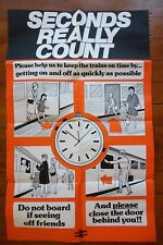 1970s Seconds Really Count BR Original Railway Travel Poster Ref 25