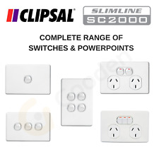 Clipsal Slimline Switches & Powerpoints - Complete Range - In Stock