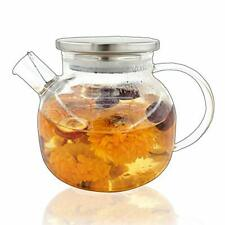 1000Ml Glass Teapot Stovetop Safe,30.4oz Clear Teapots with Removable Filter