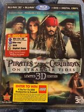 Pirates of the Caribbean: On Stranger Tides 3D 5-Disc Set Blu-ray DVD, 2011 NEW