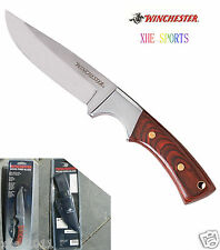 Full Tang Winchester Wood Small Fixed Blade Camping Pig knife 41340  Free Sheath
