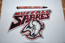 """Buffalo Sabres 7 1/2"""" Large Jacket Patch 1996-2006 Wordmark Logo Hockey"""
