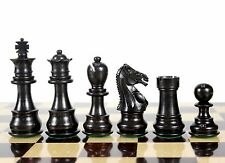 "Ebony Wood Galaxy Staunton Wooden Chess Set Pieces King size 3"" House of Chess"