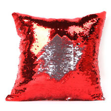 Throw Pillow Case Reversible Sequin Swipe Glitter Sofa Cushion Cover Pillowcase