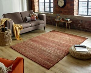 Nova Enola Rust Coloured Abstract Tribal Style Rug  in various sizes and runner