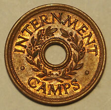 Internment Camp Token - WWII - Three Pence - Uncirculated Condition with lustre