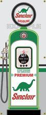 SINCLAIR PREMIUM GAS PUMP VINTAGE OLD GAS STATION BANNER GARAGE SIGN ART 2' X 5'