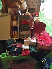 Vintage Tammy Doll Lot Case Clothes Shoes Bed And More