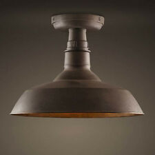 Antique Copper Ceiling Light Rustic Industrail Wrought Iron Single Pendant Light