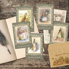 Beatrix Potter Set of 5 Postcards with Envelope, Bunny Twiggy Rabbit Mouse Card