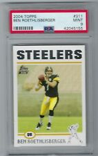 Ben Roethlisberger 2004 Topps #311  RC Steelers PSA 9 Mint