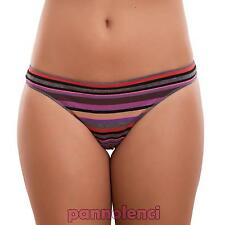 Braguitas de mujer tanga RAYAS multicolor algodón ropa interior lencería 536-MOD