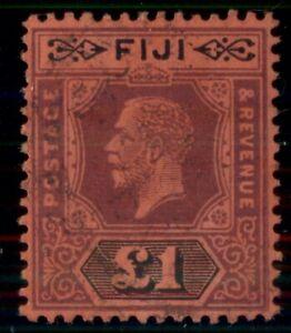 FIJI #91, £1 violet & black, unused no gum, VF, Scott $300.00