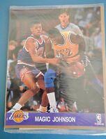 Vintage Magic Johnson NBA Hoops Factory Sealed 8x10 La Lakers Photo Card SEALED