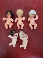 Vintage Swimming Pee Wee Dolls & Blue Box Babies - Lot of 5