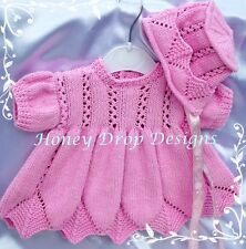 Honeydropdesigns *Springtime Dresses* PAPER KNITTING PATTERN/Reborn/Baby 4 Sizes
