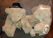 Vermont Teddy Bear Co. Bride & Groom Bears with Tags Wedding / Anniversary 1995