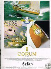 Publicité advertising 1989 La Montre Corum Admiral's Cup