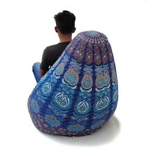 Handmade dorm room chair kantha Bohemian Hippie Bean Bag Gypsy Ottoman Pouf