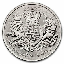 2020 Britain 1 oz Platinum Royal Coat of Arms £100 Coin GEM BU SKU61179