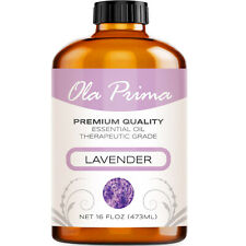 16oz - Premium Quality Lavender Essential Oil 16 Ounce With Dropper Therapeutic