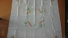 NEW Vintage Chinese Embroidered Cotton Tablecloth Table Cloth