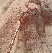 Stunning Hairpin / Hairstick Rhinestone & Pearl!