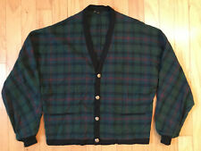 Vintage Pendleton Wool Sweater Tartan Plaid Cardigan Jacket Men'S Large
