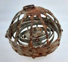 Vintage Old Rustic Iron Ship Lamp 360 Rotating Candle Holder Or Hanging Oil Lamp