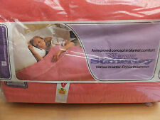 Vintage Pink Acrilan Acrilic Blanket by New Somerley