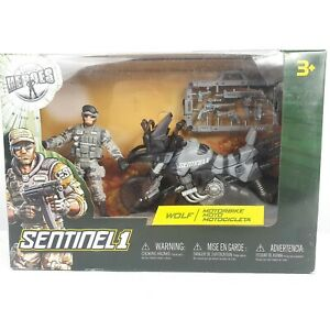 Toys R Us True Heroes Sentinel 1 Wolf Motorbike Military Solider Action Figure