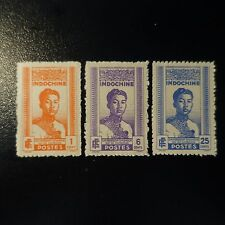 FRANCE COLONIE INDOCHINE N°224/226 NEUF ÉMIS SANS GOMME COTE 30€