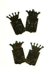 pcc2136_35)  Distintivo o decorazione  con 2 stemmi (dimensioni mm 20 x 14)