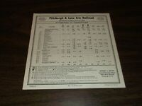 JUNE 1955 P&LE PITTSBURGH & LAKE ERIE NYC SYSTEM PUBLIC TIMETABLE