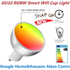 GU10 5W RGB Smart Led Bulb Wifi Light Lamp Compatible with Alexa & Google ET5
